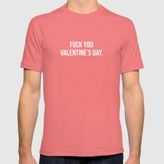 Fuck You Valentine's Day.  Pomegranate SMALL Mens Fitted Tee