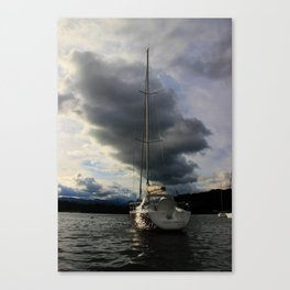 Yacht on Lake Windermere, Lake District. UK Canvas Print