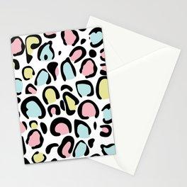 80's leopard skin pattern Stationery Cards