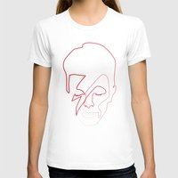 aladdin T-shirts featuring One line Aladdin Sane by quibe