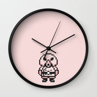 earthbound Wall Clocks featuring Pigmask - Mother 3 / Earthbound 2 by Studio Momo╰༼ ಠ益ಠ ༽