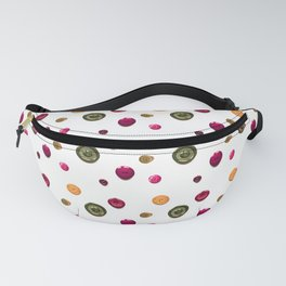 Vintage Buttons in Green Red, a fun 3D style repeating pattern Fanny Pack