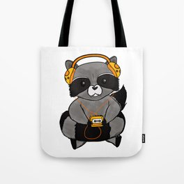 three wise raccoon music Tote Bag