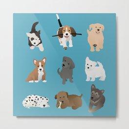 puppies pattern Metal Print