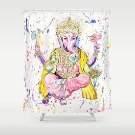 The Elephant God Ganesh, Ganesha Shower Curtain
