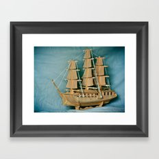 Sailing Into The New Year Framed Art Print