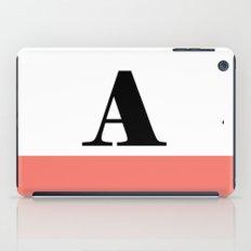 Monogram Letter A-Pantone-Peach Echo iPad Case