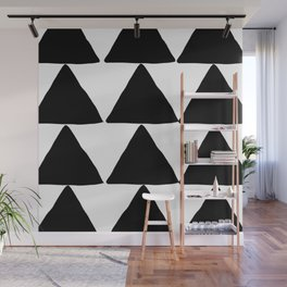 Mountains - Black and White Triangles Wall Mural