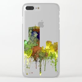 Boston, Massachusetts Skyline SG Safari Buff Clear iPhone Case