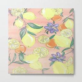 Love of Lemons. Metal Print