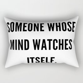 Albert Camus Quote | An Intellectual Is Someone Whose Mind Watches ItSelf Rectangular Pillow