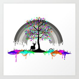 Colorless Raimbow Art Print