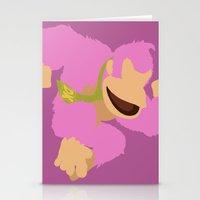 donkey kong Stationery Cards featuring Donkey Kong(Smash)Pink by ejgomez