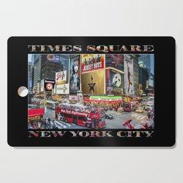 Times Square II (widescreen on black) Cutting Board