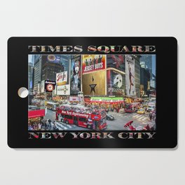 Times Square II (widescreen on black) Cutting Board
