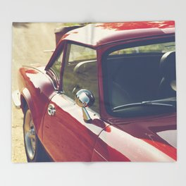 Sportscar, supercar, windscreen details, red triumph spitfire, english car Throw Blanket