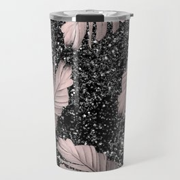 Banana Leaves Glitter Glam #4 #shiny #tropical #decor #art #society6 Travel Mug