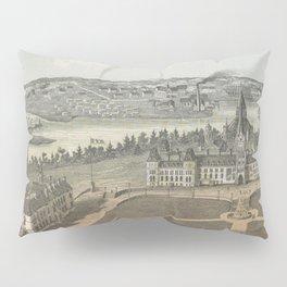 Vintage Ottawa Government Buildings Map (1865) Pillow Sham