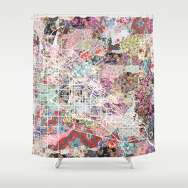 Boise map Shower Curtain