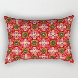 Christmas Garden Pattern Rectangular Pillow