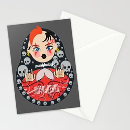 Punk matryoshka Russian traditional nesting doll  Stationery Cards