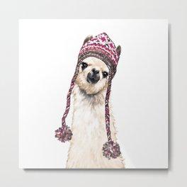 The Llama with Hat Metal Print