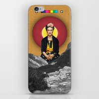 frida iPhone & iPod Skins featuring FRIDA by Estera Lazowska