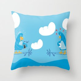 Twitter Lovers Throw Pillow