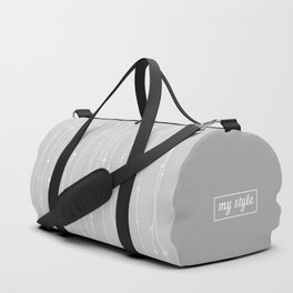 Grey Pattern With Lines And Dots Duffle Bag