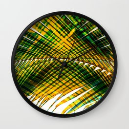 Palm Frond Strong [yellow] Wall Clock