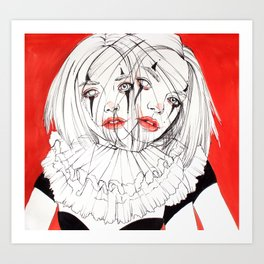 Carnival Clowns Art Print