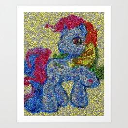 My Little Pony Rainbow Dash made of Skittles Candy Art Print