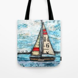 Discovery Sail Boat Tote Bag