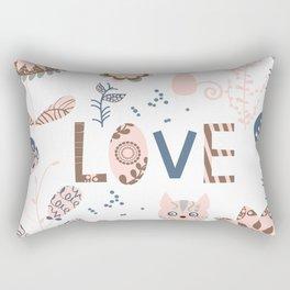 Cats pattern 4 Rectangular Pillow
