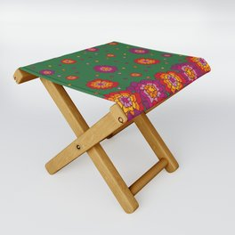 Retro Blooming Folding Stool