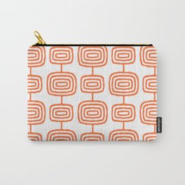 Mid Century Modern Atomic Rings Pattern Orange 3 Carry-All Pouch