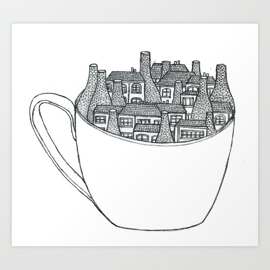 Stoke in a Cup Art Print