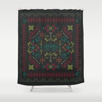 portugal Shower Curtains featuring Portugal by Ana Types Type