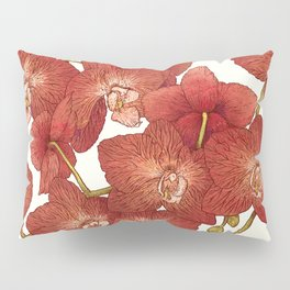 Red Orchids Pillow Sham