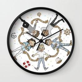 Ring of cutes Wall Clock