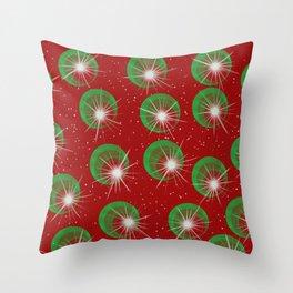 Sparkly Christmas Balls Throw Pillow