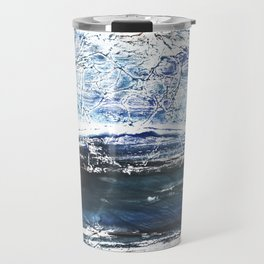 Gray-blue watercolor Travel Mug
