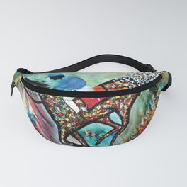 Blue Dream In The Ocean In Abstract Modern Fanny Pack