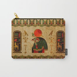 Egyptian Horus Ornament on Papyrus Carry-All Pouch