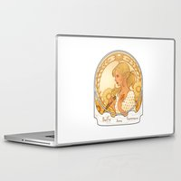 buffy Laptop & iPad Skins featuring Buffy Summers  by Morgane Grosdidier de Matons