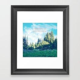 Consider How the Wildflowers Grow Framed Art Print