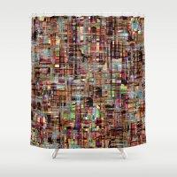tokyo Shower Curtains featuring Tokyo by FYLLAYTA, surface design,Tina Olsson