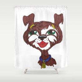 Happy Puppy Shower Curtain