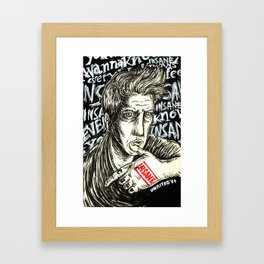 INSANE Josh Homme (QOTSA - Queens Of The Stone Age) Framed Art Print