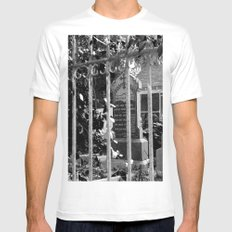 Looking Through MEDIUM Mens Fitted Tee White